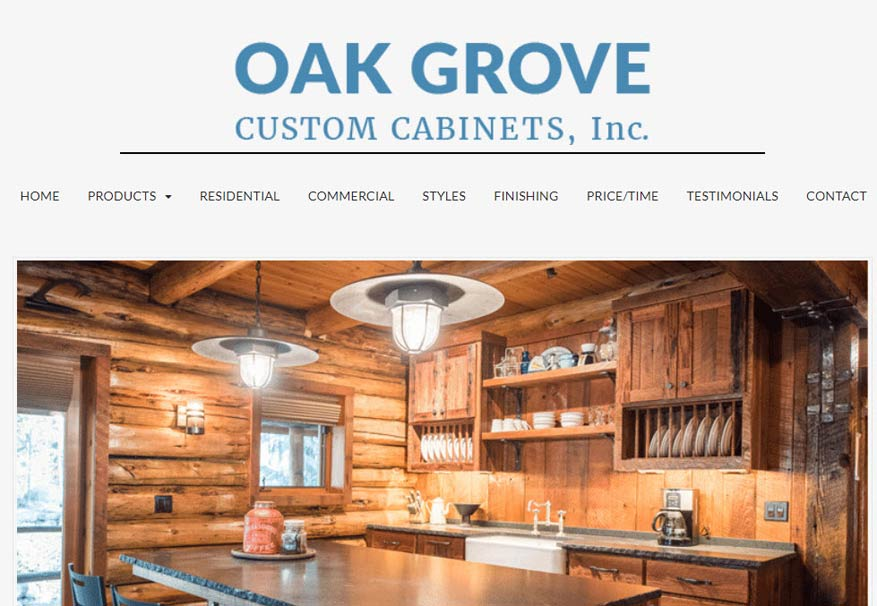 Web Design Case Study Oak Grove Cabinets