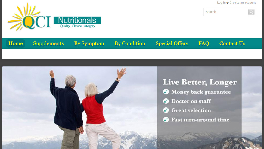 Web Design Agency Portland - QCI Nutritionals